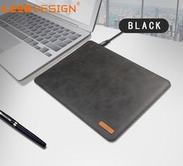 LEEU DESIGN new slim mouse pad in PU qi caricatore wireless veloce per iphone con pacchetto per iphon x 7 8 plus note 8 da pastiglie per mouse apple fornitori