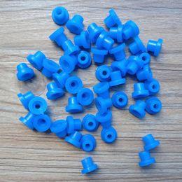 Tatuajes del pezón online-100 unids / lote 6 colores Rubber T Grommets pezones para agujas de la máquina del tatuaje ojales de goma pezones pezones tatuaje para la ametralladora del tatuaje