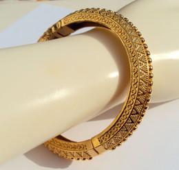 2019 bracelet jaune solide CARVE 22K 23K 24K THAI BAHT JAUNE BRIDE MASSIF GOLD BRACELET BRACELET BIJOUX BA09 bracelet jaune solide pas cher