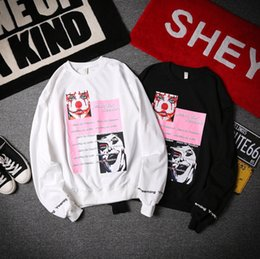 Wholesale Faces Sweaters - Spring New Hoodies Man's Sweater Clown Faces Hip Hop Harajuku Male Long Sleeved T-shirt Jacket