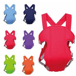 Mochilas portabebés online-Frente al bebé Sling Carrier Portabebés infantil Tirantes Bebé Clásico Mochila Cómodo Equipo de seguridad para niños AAA66