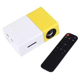 YG-300 2M 60 polegadas 600 Lumens Mini LED Projector HD Home Theater com 3 em 1 Video Converter Cable Controle Remoto de Fornecedores de projetor 3d barato