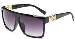 Occhiali quadrati da sole uomo online-Occhiali da sole a specchio per uomo Designer del marchio Driving Square Occhiali da sole Occhiali maschili UV400 5013
