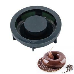 2019 caneta de macarrão Molde preto da rosquinha 3D do silicone para ferramentas do cozimento da pastelaria das brownies do chocolate dos bolos