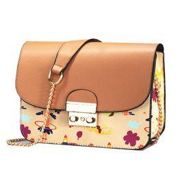 2018 Luxury Designer Women Handbag PU Leather Messenger Shoulder Bag for  Teenager Girls Ladies Travel Crossbody Small Flap Bag a3de9977949b7