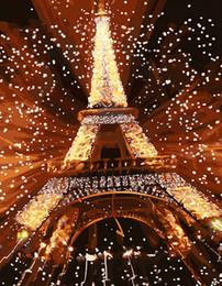 Cuadros pittura online-immagini da parete per soggiorno dipinto da numeri su tela pittura a olio fai da te Rimless cuadros Wall art pittura Torre Eiffel m447