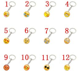 Wholesale happy promotions - Trendy Smiley Face necklace Emoji pendants Smile keychain Smiley Face key chain jewelry Happy pendan Gift J083