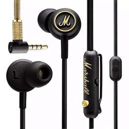 Wholesale bluetooth headset pc mobile - In stock! Marshall MODE EQ Earphone&Headphone With Mic In Ear Headset Universal Fashion HIFI Earphones For Mobile Phone PC Computer
