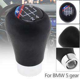 2020 bmw knopf 5 Geschwindigkeit ABS Kunststoff + Leder Schwarz Auto Handschalthebel Handball Knopf Für BMW 1/3/5/6 Serie CIA_307 rabatt bmw knopf
