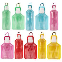 Bottiglie d'acqua alimentatori online-Biberon portatile per animali Cane Cat Water Bowl Acqua da viaggio Dispenser Feeder Bere FFA349 5 colori