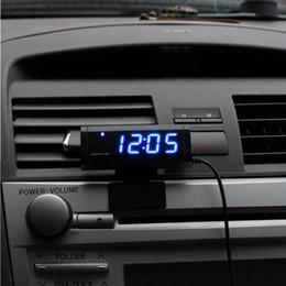 ec20d37fc28 Atacado-múltiplas funções carro termômetro relógio voltímetro automotivo  interior e exterior medidor de temperatura calendário relógio universal