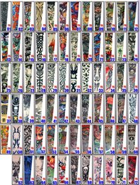 Wholesale Tattoos Arm Designs For Men - Fake Temporary Tattoo Sleeves Designs Body Arm Stockings Tatoo for Cool Men Women tiger skeleton lion snake ect
