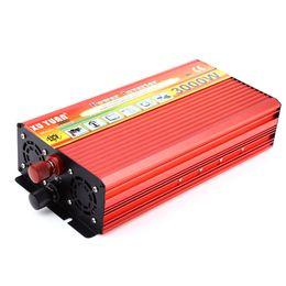 Wechselrichter ladegeräte für autos online-3000 Watt Solar Auto Power Inverter DC 12 V 24 V zu AC 220 V Geändert Sinus Fahrzeug montiert Ladegerät Auto Power Inverter