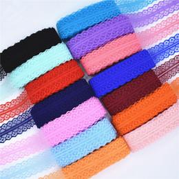 Net diy online-Organza Arts Tool 50 yardas Cinta de encaje Ancho de cinta 28 mm Tela de ajuste Diy Cordón neto bordado para coser Decoración Tela de encaje africano