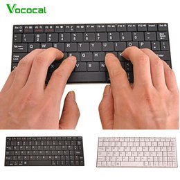 Wholesale Smartphone Slim - Vococal Mini Ultra Slim Silent USB Rechargeable Wireless Bluetooth 2.4GHz Keyboard for Smartphone Laptop Tablet Desktop MAC