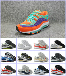 Wholesale canvas shoes black colour - (All Colour) Maxes OG QS 98 New Cushion Gundam Tour White Men Womens Running Shoes Trainers Breathable Athletic Outdoor Sport Sneakers Casua