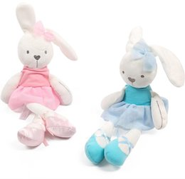 Wholesale Baby Bear Sleeping - 42cm Cute Bunny Baby Soft Plush Toys Mini Stuffed Animals Kids Baby Toys Smooth Obedient Sleeping Rabbit Doll