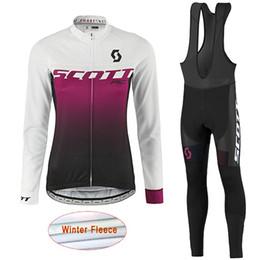 Wholesale women bike pants - scott 2017 new women cycling jersey long sleeve shirt bib pants set mountain bike sportswear cycling clothes mtb bicycle clothing M1801