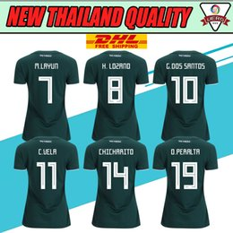 Wholesale Thai Wholesale Jersey - DHL free shipping Top Thai 2017 2018 Mexico home green womens soccer jerseys best quality football t shirts ladys short sleeve sportwe