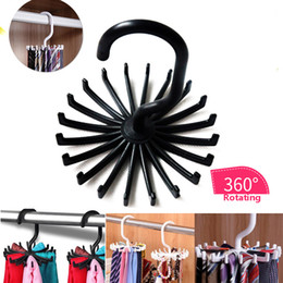 Wholesale Ties Organizer - Multifunction Tie Belt Necklace Racks Belt Hanger Scarf Holders Hook For Closet Organizers 360 Degree Rotating 20 Hooks Bathroom WX9-490