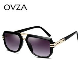 2019 мужские красные рамные солнцезащитные очки OVZA Мода Прозрачная Рамка Солнцезащитные Очки Мужские Красные Солнцезащитные Очки Женщины Высокого Качества Anti-UV S6015 дешево мужские красные рамные солнцезащитные очки