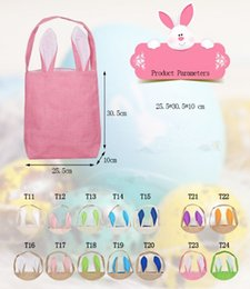 Easter bunny egg coupons promo codes deals 2018 dhgate coupon 20pcs burlap easter gift bags basket with bunny ears bunny ears basket cute easter gift bag negle Gallery