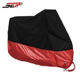 Wholesale Bike Fabric - red universal Outdoor Uv M,L,XL,2XL,3XL,4XL Protector Bike Rain Dustproof for Scooter Covers waterproof Motorcycle Cover