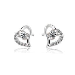 Wholesale post heart - Brand New Classic Design Twist Love Knot Post Heart Stud Earrings for Women 10pcs lot drop shipping E376