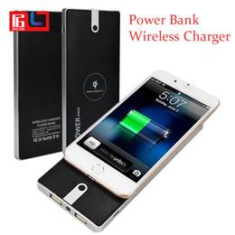 carregadores móveis sem fio Desconto Banco do poder do carregador sem fio para o iphone 7/8 / x Samsung Galaxy S9 Nota 9 10000 mAh Carregador portátil do telefone móvel de Powerbank