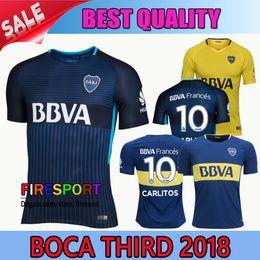 Wholesale Boca Juniors - Thailand Quality 2017 2018 Boca Juniors Soccer Jersey Home Away 3RD 17 18 Boca Juniors Third GAGO OSVALDO CARLITOS Football shirts