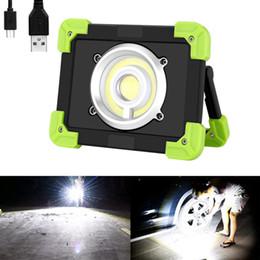 luzes de lanterna de emergência led recarregáveis Desconto 20 W COB LEVOU Trabalho Luz USB Recarregável Lanterna de Acampamento IP44 À Prova D 'Água Banco de Potência Portátil Caminhadas Ao Ar Livre Caminhadas Lâmpada De Emergência