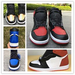 Размер 13 колец онлайн-С коробкой Новый 1 6 кольца синий белый игра королевский мужчины баскетбол обувь спортивные кроссовки тренеры высокое качество размер 8-13