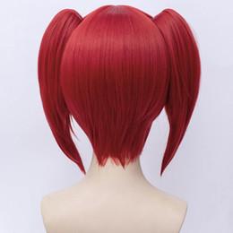 30 см красный волнистые короткие волосы для Houseki не Куни берилл Аниме косплей + хвостики парик supplier wig red ponytail от Поставщики парик красный конский хвост