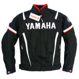 summer motorcycle jacket xxl Coupons - Summer Mesh Motorcycle Jackets Moto Racing Windproof Jackets fit for Yamaha Motor With 5pcs Protectors Men Motorbike Jacket