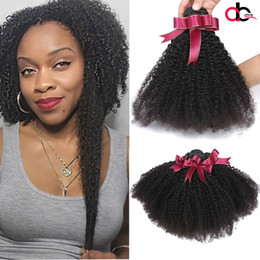 Wholesale 22 Inch Curly Weave Cheap - 9A Peruvian Virgin Hair Afro Curly 3 Bundles Unprocessed Remy Human hair Weave #1B Cheap Braziian Malaysian Indian Curly Hair Extension