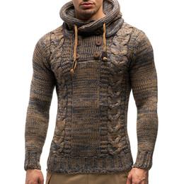 Erkek kazak 2018 yeni erkek moda rahat eğilim renk büküm kruvaze kapşonlu İnce kazak rahat nereden