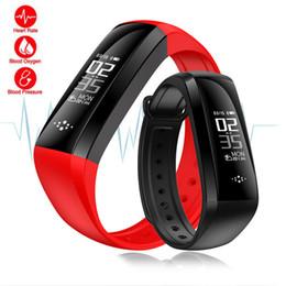 pulsera inteligente deportes android Rebajas M2S Smart Fitness pulsera reloj inteligente presión arterial monitor de ritmo cardíaco oxígeno de sangre para Android iOS teléfono inteligente deporte Wirstband