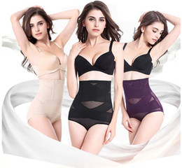 Wholesale Fast Drying Pants - DHL fast ship free pregnant maternity women recovery underwear Women high waist tummy control body shaper briefs slimming pants