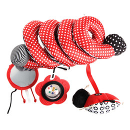 Wholesale Activity Spiral - Wholesale- Baby Cute Toys Spiral Activity Bed Stroller Set Toy Crib Hanging Bell Rattle W15