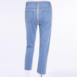 256a43d61d8 2018 Autumn Winter High Waist Back Zipper Jeans Casual Women High Street  Wear Pockets Pencil Denim Pants