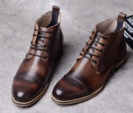 Canada Chaussures Martin de haute qualité Homme Hiver Chaud Bottines en cuir Cuir de vachette lisse à l'extérieur de la peau de porc Offre