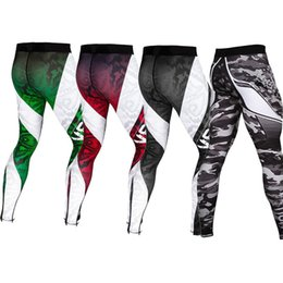 Wholesale Fast Drying Pants - 2018 New Mens Base Layer Fast Dry Fitness Leggings Trousers Tights pantalones hombre Camo Compression jogger Pants Casual Trousers