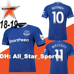18 19 everton soccer jersey home rooney 2018 2019 Walcott CENK TOSUN  SIGURDSSON KLAASSEN KEANE away football shirts top quality customize 0a2866425
