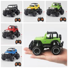 Wholesale Electric Rc Jeep - NEW 1:43 RC Cars Racing Jeep 4 Channels Rc car with remote control and Retail Box Free Shipping