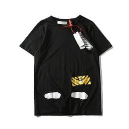 Wholesale heavy t shirts men - Black Tee Heavy OF t shirt men women harajuku hip hop swag clothes kanye yeezus streetwear top WHITE tees HFLSTX059