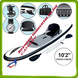 """Soportar inflable online-Sup Inflatable HydroForce WaveEdge Inflable Stand Up Paddle board Bestway 10'2 """"Surfing Board con cojín del asiento"""