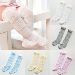 Wholesale Girls Knee High Tube Socks - Helen115 Baby Girls Socks Knee High with Bows Cute Baby Socks Long Tube Kids Leg Warmers