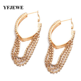 ae864022e China Fashion Jewelry Elegant Earrings for Women anti-allergic female hoop  earrings vintage design long