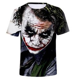Joker hommes en Ligne-Hip-hop femmes / hommes t-shirt Joker démon clown 3D anime imprimer T-shirt été décontracté col rond coton Harajuku T-shirt