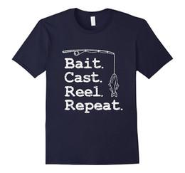 Wholesale T Bait - Bait Cast Reel Repeat Fishing T-Shirt